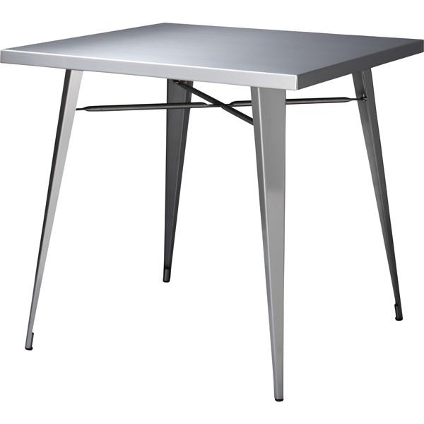 ダイニングテーブル ステンレス 幅81.5×奥行81.5×高さ72cm ダイニング テーブル おしゃれ カフェ cafe STN-337