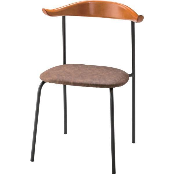 チェア ダイニングチェア 座面高さ47cm 椅子 ダイニング リビング ソフトレザー 合皮 合成革皮 スチール シンプル TEC-62