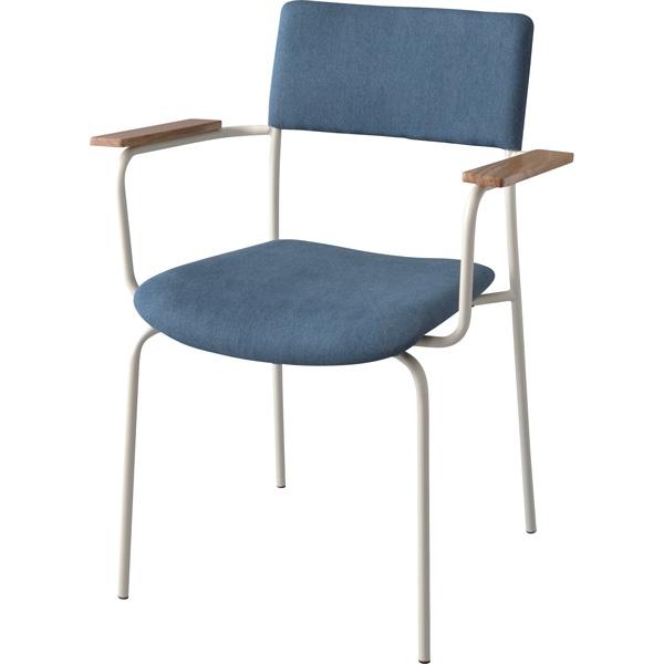 アームチェア ダイニングチェア 座面高さ47cm 椅子 ダイニング リビング 天然木 木製 スチール シンプル TEC-70