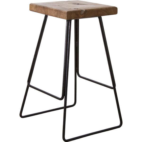スツール 座面高さ65cm ハイスツール バースツール カウンタースツール チェア 椅子 木製 天然木 スチール シンプル TTF-905C