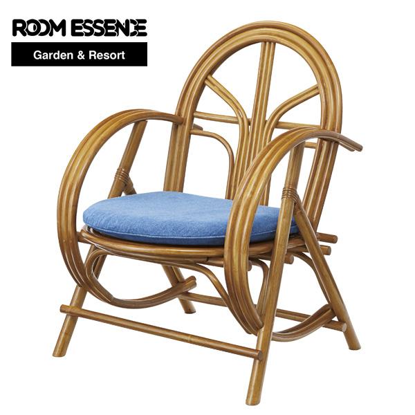 ラタンチェア 座面高さ46cm チェア 椅子 イス ガーデン アジアン リゾート テラス カフェ cafe 庭 シンプル おしゃれ TTF-924
