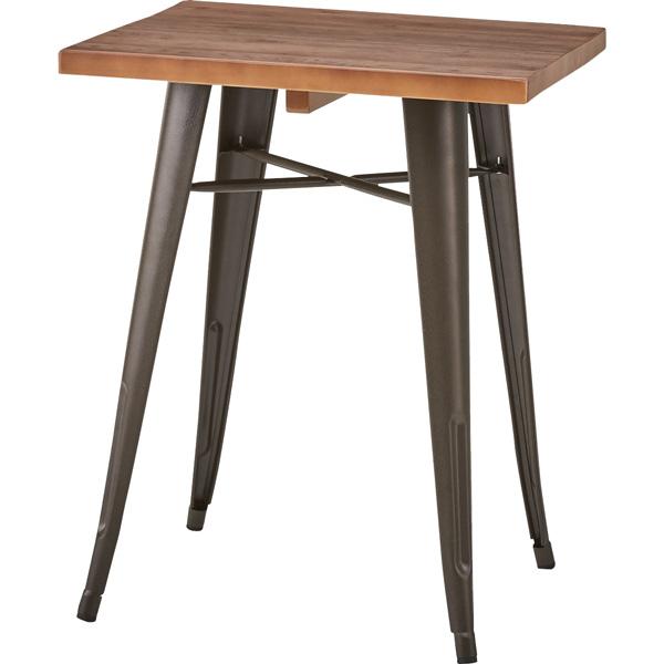 ダイニングテーブル 幅60×奥行60×高さ72cm ダイニング テーブル 木製 スチール おしゃれ カフェ cafe WPS-347