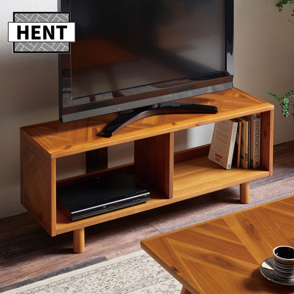 幾何学的な組み合わせの寄木突板が個性的なインテリアシリーズtvボード 幅100cm ローボード テレビ台 テレビラック 収納 アカシア材 木製 アジアン ビンテージ 西海岸 HENT-LB100