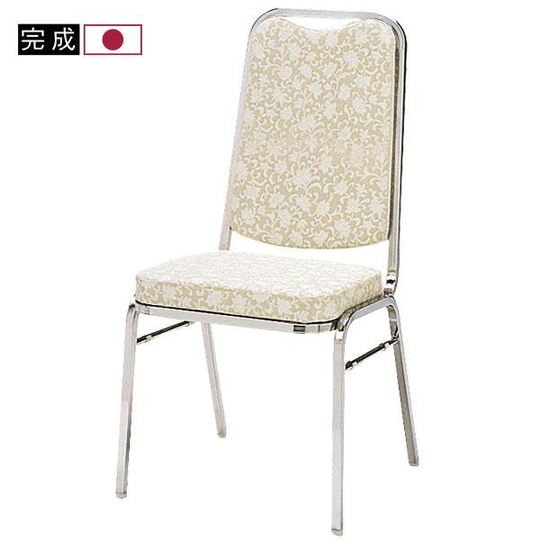 【法人・店舗向け配送】安心の日本製レセプションチェアレセプションチェア ハイバックタイプ 会議椅子 パイプ椅子 チェア 椅子 レザー張り クロームメッキ MMR-2HM