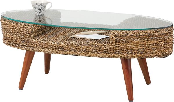 AZUMAYA 東谷 NRT-415 クラール オーバルテーブル リゾート気分を味わえる シンプルデザイン