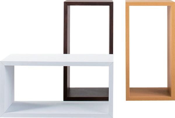 AZUMAYA 東谷 パズルラック ダイゾー 4個セット(同色) シンプルデザイン レイアウトが自由自在! おしゃれ 収納家具 【選べる3色 ホワイト、ナチュラル、ブラウン】 NWS-557WH / NWS-557NA / NWS-557BR