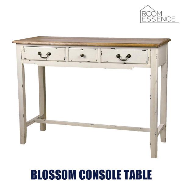 コンソールテーブル 高さ78cm pcデスク パソコンデスク 作業台 机 引き出し 可愛い かわいい ビンテージ シンプル リビング デザイン ナチュラル 天然木 木製 COL-016