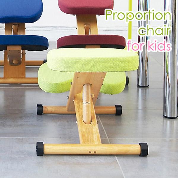 プロポーションチェア バランスチェア 矯正椅子 いす 椅子 学習椅子 学習イス パソコンチェア pcチェア 子供用 子ども キッズ カラフル 高さ調整 矯正 勉強 ライム CH-889CK-LM