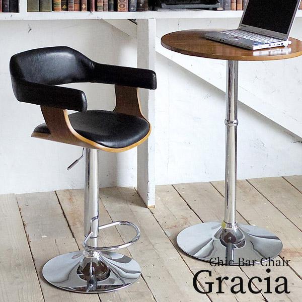 バーチェア 座面高さ61~83cm レザーチェア カウンターチェア ハイチェア チェア 椅子 いす 回転式 昇降式 合成皮革 PU 飲食店 カフェ キッチン 足置き スタイリッシュ モダン KNC-J1080