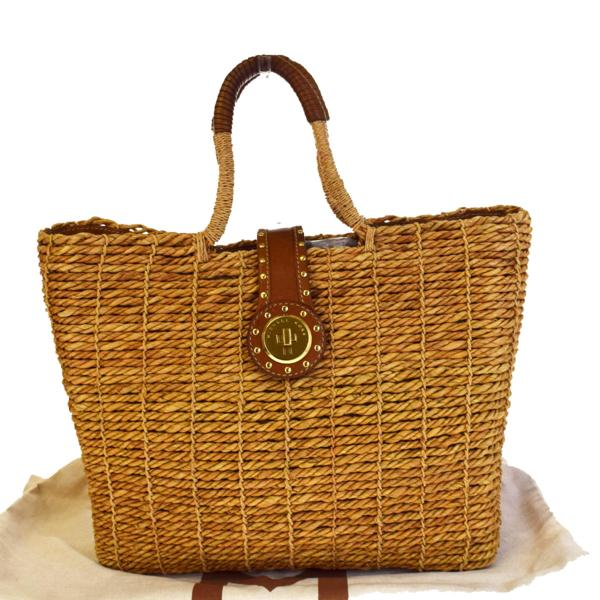 01h1268 With The Michael Kors Basket Bag Tote Shoulder Hand Brown Straw Leather Preservation