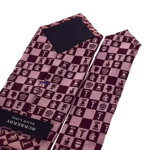 e7ac97fedf55 ... promo code for burberry black label burberry black label tie chess  pattern pink red silk 100 ...