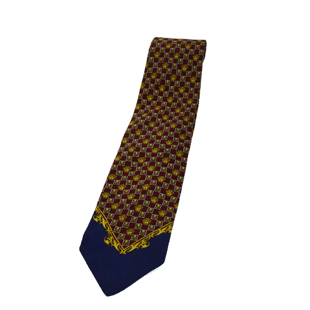 3e5607a86f4e 100% of super beautiful article Gianni Versace GIANNI VERSACE tie Medusa  red gold navy silk ...