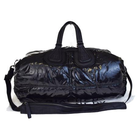 送料無料 【中古】 美品 ジバンシー GIVENCHY ナイチンゲール ハンドバッグ ショルダーバッグ 2WAY ブラック ビニール レザー 保存袋付き 34V2150