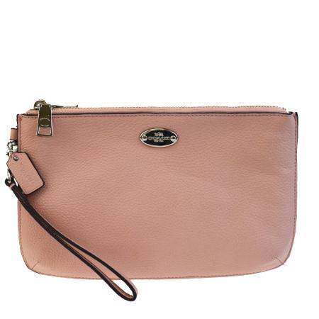 Beautiful Article Coach Clutch Bag Porch Pink Leather F53157 01hb109