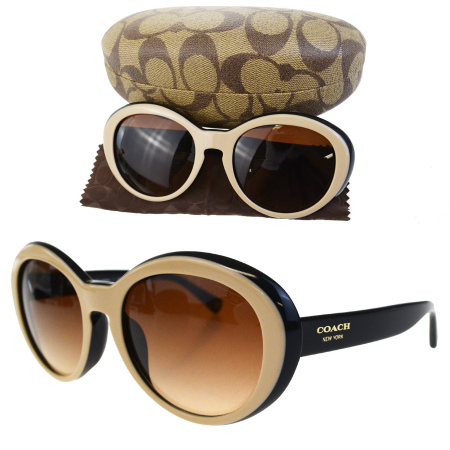 c46b8641c7 5155/13 01HA976 with the new beautiful article coach COACH sunglasses black  beige brown gold plastic glasses wiping case