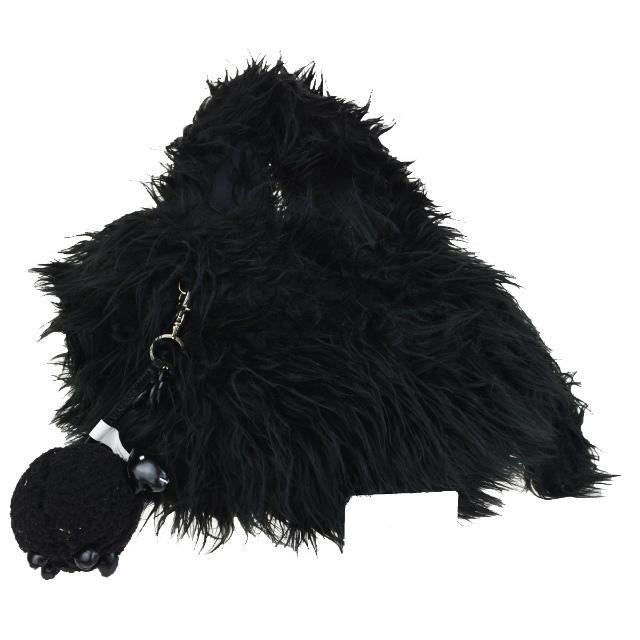 a97104d4478fc Sea by Kuroe SEE BY CHLOE Joey rider shoulder bag charm black fake fur  canvas suede ...