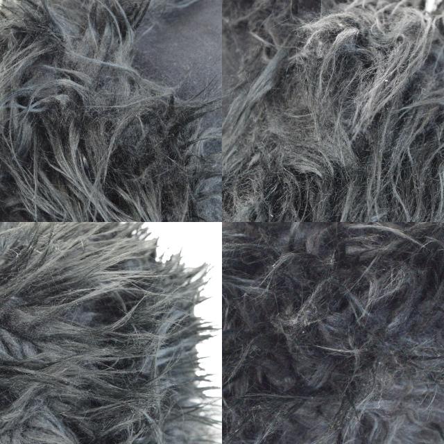 86fb259d3347b ... Sea by Kuroe SEE BY CHLOE Joey rider shoulder bag charm black fake fur  canvas suede ...