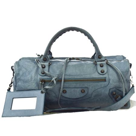 送料無料 【中古】 中美品 バレンシアガ BALENCIAGA ツィギー ハンドバッグ ショルダーバッグ 2WAY ブルー レザー ハンドミラー 保存袋付き 88B221