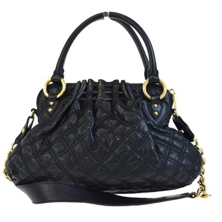 059fd2e0a154 boom  Mark Jacobs MARC JACOBS handbag chain shoulder quilting black gold  leather 09HB321