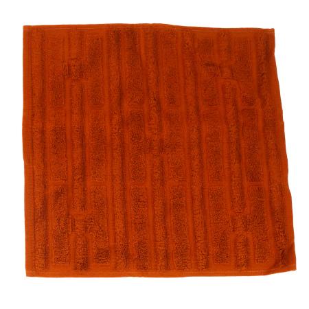 送料無料 【中古】 未使用 エルメス HERMES タオルハンカチ オレンジ コットン 100% 07BA610