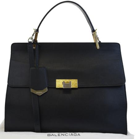 送料無料 【中古】 バレンシアガ BALENCIAGA ハンドバッグ ショルダーバッグ 2WAYバッグ ブラック レザー 保存袋付き 88BC745