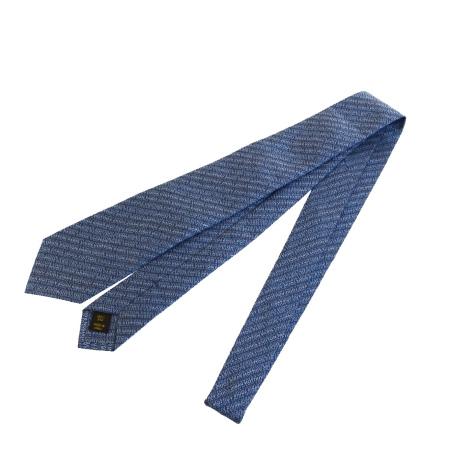 送料無料 【中古】 美品 ルイヴィトン LOUIS VUITTON ネクタイ ブルー シルク 100% メンズ 09BC585
