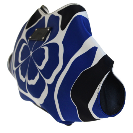 Super beautiful article Alexander McQueen ALEXANDER McQUEEN clutch bag blue  white black nylon leather 65BC350
