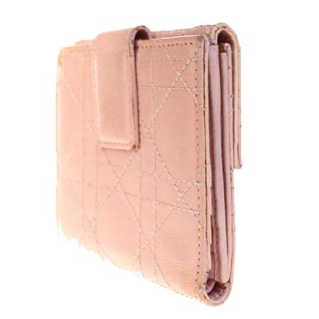 1c57b2316ba9 ブランド名, クリスチャンディオール. 商品名, 三つ折り財布. カラー/素材, ピンク/レザー