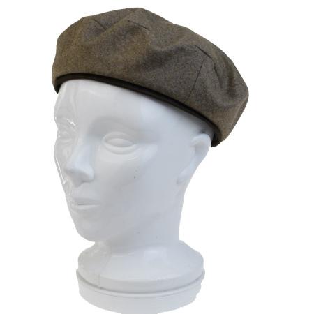 送料無料 【中古】 超美品 エルメス HERMES ベレー帽 帽子 ブラウン ウール カシミヤ 58cm 09BD940