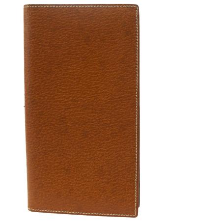 送料無料 【中古】 超美品 グッチ GUCCI 二つ折り 札入れ カード入れ 長財布 ブラウン レザー 07BD191