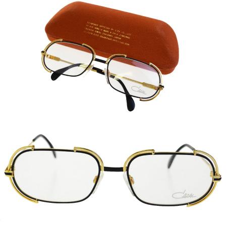 bde30df8d88d Vintage 03BD411 made in カザール CAZAL glasses frame gold black metal MOD237  West Germany