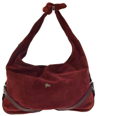 cc55993fd5d8 Middle beauty product Burberry BURBERRY shoulder bag Bordeaux red suede  leather 09ED959