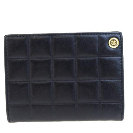 送料無料 【中古】 外美品 シャネル CHANEL カードケース ココマーク キルティング ブラック レザー 09BE405