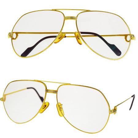 boom: Beautiful article Cartier Cartier glasses frame Vendome gold ...