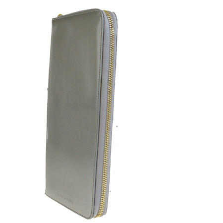 637d3c74ef1 ... Super beautiful article mark Jacobs list price 90,000 MARC JACOBS  organizer round fastener long wallet silver ...