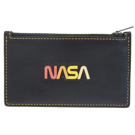 送料無料 【中古】 美品 コーチ COACH ナサ NASA コインケース 小銭入れ 財布 ブラック レザー 10407 08HC138