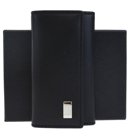 送料無料 【中古】 超美品 ダンヒル dunhill 6連キーケース ブラック レザー 保存箱付き 09HC139