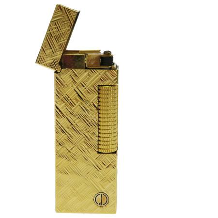 送料無料 【中古】 超美品 ダンヒル dunhill ホールマーク ガスライター ローラガス ゴールド メタル 着火OK 09HC322