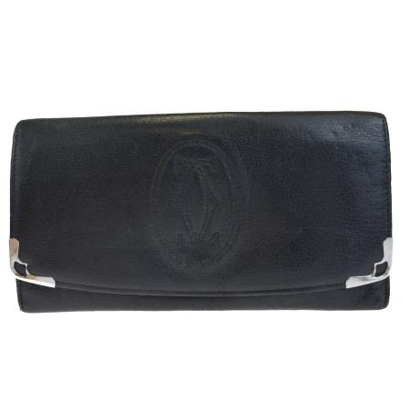 【中古】 カルティエ Cartier マルチェロ 二つ折り 長財布 ブラック レザー 02HC466