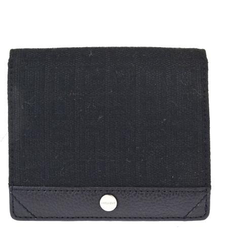 送料無料 【中古】 美品 ジバンシー GIVENCHY カードケース 名刺入れ パスケース 定期入れ ブラック キャンバス レザー 07BE568