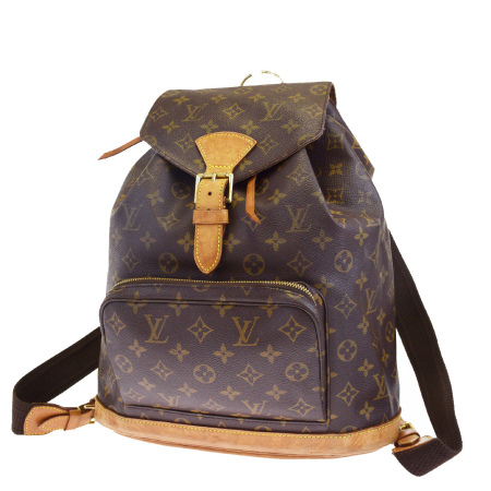 fc0cc9d150ca ... モノグラム レザー M51135 84BF982. 送料無料 【中古】 ルイヴィトン LOUIS VUITTON モンスリ GM リュックサック  バックパック バッグ