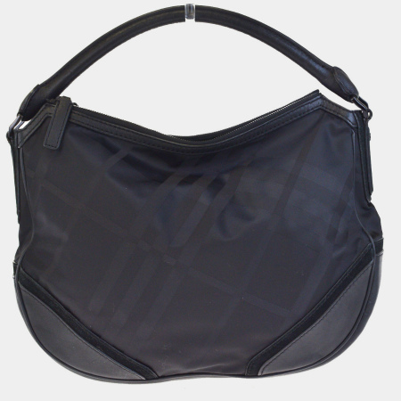 boom  Beautiful article Burberry BURBERRY shoulder bag Novacek black nylon  suede leather 65EF613  f7b35148e441c