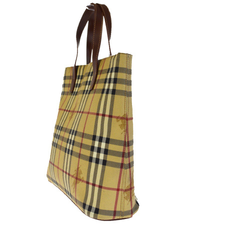 Sotomi product Burberry BURBERRY tote bag handbag Novacek beige brown PVC  leather made in Italy 63EF524 ea89ff180f
