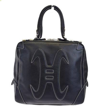 【中古】 新型 美品 コールハーン COLE HAAN ハンドバッグ ブラック レザー 08HC843