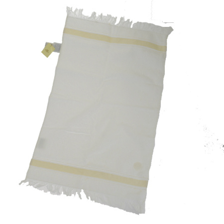 送料無料 【中古】 超美品 エルメス ベビー用品 HERMES 小袋 タオル ホワイト コットン 06HD086