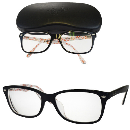 3335e28576 RB5228F 07HC986 with the Ray-Ban Ray-Ban glasses frame black plastic case