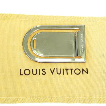 【中古】 超美品 ルイヴィトン LOUIS VUITTON パンス ア ビエ ポルト アドレス マネークリップ 財布 シルバー メタル M64691 67BF014