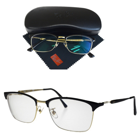 ace15707d9 RB8751D 01HD386 with the beautiful article Ray-Ban Ray-Ban glasses frame  black silver plastic metal glasses wiping case