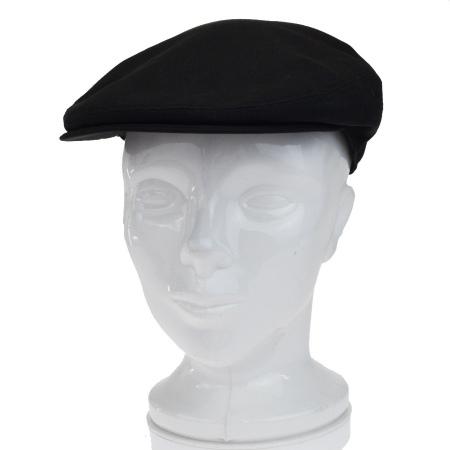 送料無料 【中古】 エルメス HERMES ハンチング 帽子 ブラック ブラウン コットン リネン レザー 09BF661