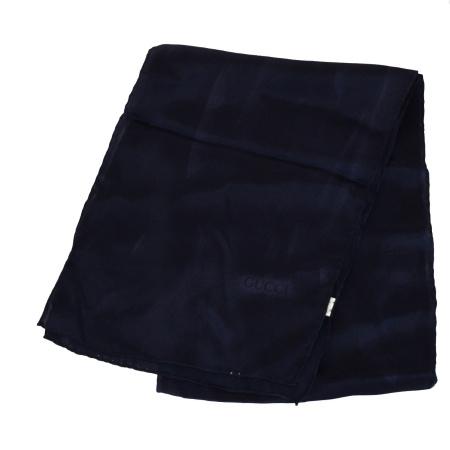 【中古】 超美品 グッチ GUCCI 縦長 スカーフ マフラー パープル シルク 100% 08EG948